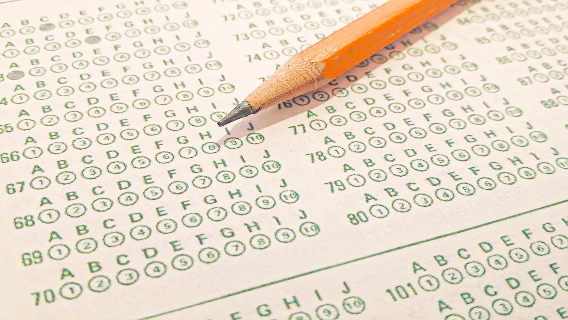 Standardized Test Bubbles and Pencil